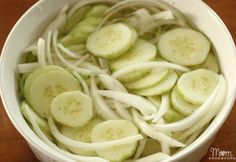 Vinegar Cucumbers Ingredients 3-4 large cucumbers 1/3 - 1/2 large sweet onion (depending on how much you like onion) 1.5 C vinegar (I prefer apple cider for this recipe) 2.5 C water salt & pepper to taste Side Dishes Easy, Cucumber Salad, Best Pickles, Beans, Homemade Chocolate Pudding, Fried Pickles, Egg Noodles, Homemade Pickles, Noodles Romanoff