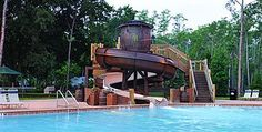 Fort Wilderness resort and camp ground pool at Disney World