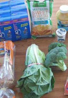 Gretchen's $35 Weekly Menu and Shopping Trip -- great inspiration for shopping on a tight budget!