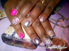 Girlie by LondonTaylor_ via @nailartgallery #nailartgallery #nailart #nails #handpainted #londontaylor