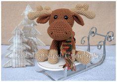 Marty the Moose - free crochet pattern