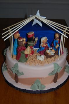 Nativity Scene by leeann76 on Cake Central