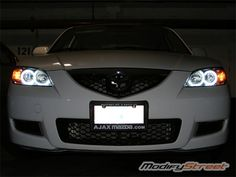 mazda 3 halo lights | ... CCFL Angel Eyes Halo Rings & Inverters for 04-08 Mazda 3 Headlights