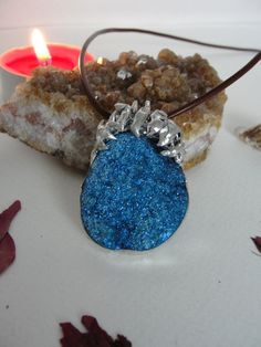 Pendant+Necklace+with+Agate+Druzy+from+Jewelry&Hand+Made+by+DaWanda.com