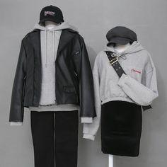 Korean Girl Fashion, Korean Fashion Trends, Ulzzang Fashion, Kpop Fashion Outfits, Korea Fashion, Edgy Outfits, Korean Outfits, Fashion Ideas, Asian Fashion