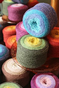 New arrival!! <3 Each skein of Rustic Lace Quad has over 1,250 yards of all organic lambswool and silk for $35 https://northcoastknittery.com/products/rustic-lace-quad
