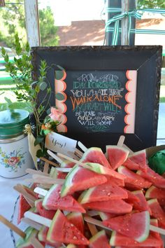 Watermelon sticks! With some many potential little ones at this reception, this could prove awesome.
