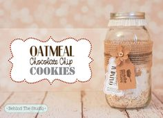 Oatmeal Chocolate Chip Cookie Dry Ingredients Mason Jar Gift using the David Tutera Casual Elegance Collection of DIY bridal and wedding decor, crafts and accessories #DTCasualElegance