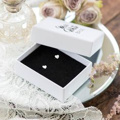 Our Eva silver heart studs are the perfect gift for your bridesmaids. Shop here: