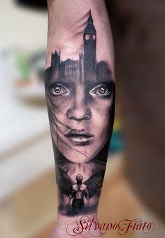 Beautiful Black and Grey tattoo. Artist: Silvano Fiato
