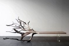 Fallen Tree Bench by Benjamin Graindorge     this is sick