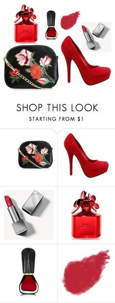"""""""red love"""" by pippy-casco-depauli on Polyvore featuring moda, New Look, Burberry, Marc Jacobs, Oribe y Bobbi Brown Cosmetics"""