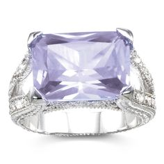 Lavender CZ Lilac Ice Cocktail Ring | Holsted Jewelers