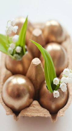 Make Your Own Golden Easter Eggs
