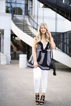ON SALE for less than $60! Affordable date night top with plunging neckline and a sexy back . A cute summer top on sale from Revolve.