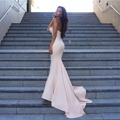 Gorgeous Mermaid Long Strapless Evening Dress,Sexy Light Pink Prom Dress,Mermaid Pink Bridesmaid Dress with Train sold by Prom Dress Shop. Shop more products from Prom Dress Shop on Storenvy, the home of independent small businesses all over the world. Strapless Prom Dresses, Mermaid Prom Dresses, Ball Dresses, Sexy Dresses, Beautiful Dresses, Bridesmaid Dresses, Dress Prom, Party Dresses, Dresses Uk