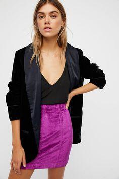 Modern Femme Velvet Mini Skirt | Free People