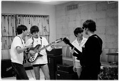 The Beatles Rehearsing in the Miami heat for the second live Ed Sullivan broadcast