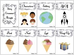 Schoolhouse Talk!: Story Grammar and Story Retell Picture Prompts {FREEBIE} - Repinned by @PediaStaff – Please Visit  ht.ly/63sNt for all our pediatric therapy pins