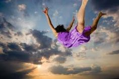 In a dream you can feel like you are flying thought the air.