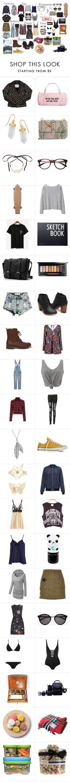 """""""Another Roadtrip"""" by disney-geek-forever on Polyvore featuring Little Remix, ban.do, BillyTheTree, Valentino, Fallon, Wood Wood, Design Letters, MAC Cosmetics, Hollister Co. and Boohoo"""