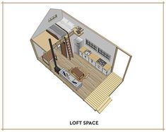Small Cabin Loft DIY Build Plans 12' x 20' Tiny   Etsy Cabin Loft, Diy Cabin, Tiny House Cabin, Tiny House Plans, Tiny House Design, Tiny Houses, Cabin Ideas, House Ideas, Guest Cabin