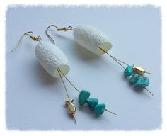 Silk Cocoon Earrings by TheMintButton on Etsy