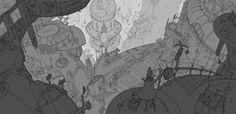 Floraville Overview, Shunding Lin on ArtStation at https://www.artstation.com/artwork/oZ22q