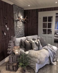Long Lake, Interior Inspiration, Farmhouse, Cozy, Interior Design, Bed, Furniture, Dark, Home Decor