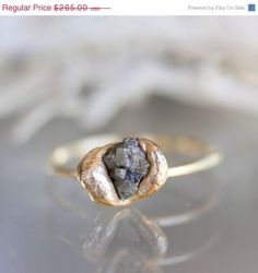 Mothers Day Specials  Raw Diamond In Recycled 14K by louisagallery, $212.00