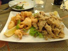Fried calamri and fried anchovies @ Restaurant LOLA - Spanish Tapas
