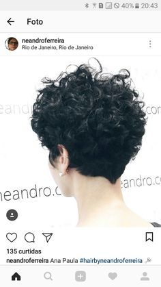 New haircut short pixie curls curly hairstyles Ideas Curly Pixie Hairstyles, Haircuts For Curly Hair, Curly Hair Cuts, Wavy Hair, Short Hair Cuts, Curly Hair Styles, Short Curly Pixie, Hair Inspo, Hair Inspiration