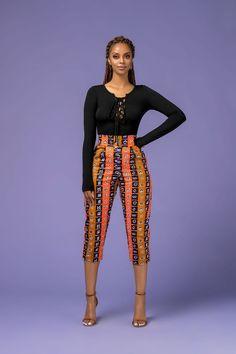Chantal African Print Pants from Diyanu - Ankara Dresses, Shirts & African Fashion Designers, African Fashion Ankara, Ghanaian Fashion, African Inspired Fashion, Latest African Fashion Dresses, African Dresses For Women, African Print Fashion, Africa Fashion, African Attire
