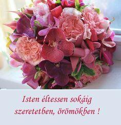 Happy Brithday, Happy Birthday Cards, Birthday Wishes, Name Day, Cross Stitch Patterns, Floral Design, Creative, Flowers, Dekoration