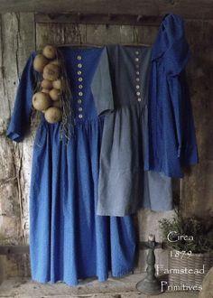 Primitive Early Look Prairie Dresses Pegboard Bonnet Gourds   eBay
