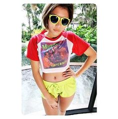 Misfits Baseball T Shirt Leopard, Pink, Red, Black And White Crop Shirt Cropped Top Hipster Sexy Girl