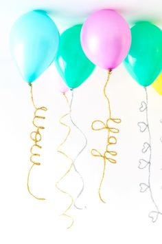Make your birthday party decor stand out with these DIY bendable balloon tails. Party Animals, Animal Party, Diy Party Decorations, Balloon Decorations, Balloon Ideas, Balloon Party, Celebrate Good Times, A Little Party, Diy Décoration