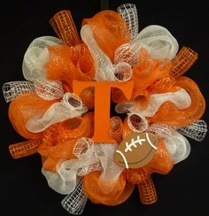 Tennessee Vols, Poly Mesh Wreath, College Football, Sports Fans 613 | WreathsbyRobin - Housewares on ArtFire