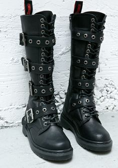 8149547ef3f Demonia Fatality Tall Combat Boots Black Boots