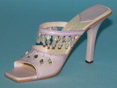 "Just the Right Shoe, Raine, ""Crystal Cascade"" mixed media miniature # 25318 NIB"