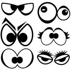 A huge collection of fingerplays and action rhymes on a wide variety of topics for your family, kids, or for storytime! Cute Cartoon Eyes, Cartoon Faces, Scary Eyes, Spooky Eyes, Balloon Face, Monster Eyes, Doodles, Cartoon Monsters, Rock Art