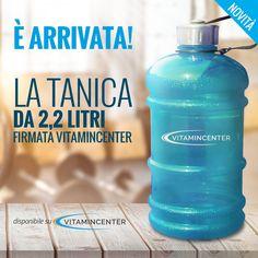 NEW ENTRY - E' arrivata la Tanica VitaminCenter!! Ora sapete dove mettere la benzina per i vostri allenamenti! ;)  Acquistala subito su #VitaminCenter! New Product, Vitamins, Soap, Personal Care, Bottle, Self Care, Personal Hygiene, Flask, Vitamin D