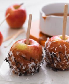 Caramel Apples with Coconut & Chocolate Drizzle http://wm13.walmart.com/Cook/Recipes/22444