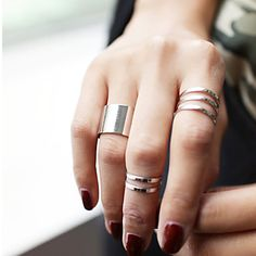 Minimalistic alloy set of 3 rings at $1.99