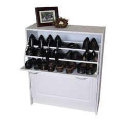 4D Concepts 24 Pair White Composite Shoe Cabinet in the Shoe Storage department at Lowes.com Shoe Cabinet, White Cabinets, Shoe Rack, Drawers, Shoe Storage Cabinet, Cabinet, Storage Cabinet, Diy Cabinets, Storage