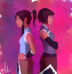 Korra - First and Fourth book by bibinella