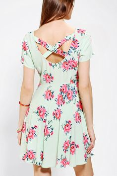 Pins And Needles Floral Cross-Back Dress