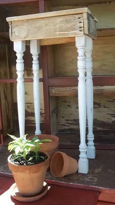 Recycled Pallet Table by buckeyerestoration on Etsy, $50.00