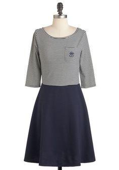 Breton Shore Breeze Dress. Love the anchor on the pocket!