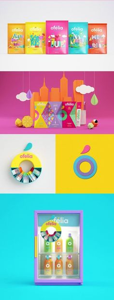 Ofelia on Packaging of the World - Creative Package Design Gallery Kids Packaging, Candy Packaging, Juice Packaging, Chocolate Packaging, Food Packaging Design, Packaging Design Inspiration, Branding Design, Coffee Packaging, Bottle Packaging
